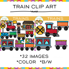 Kids Train Clip Art
