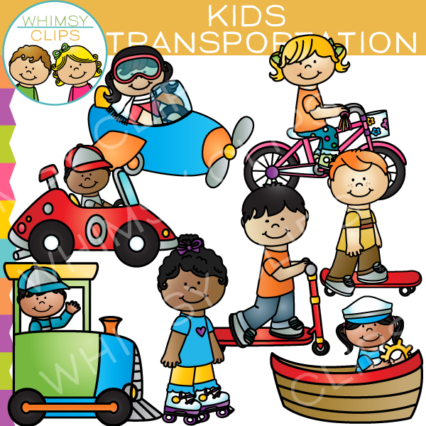 Transportation Kids Clip Art
