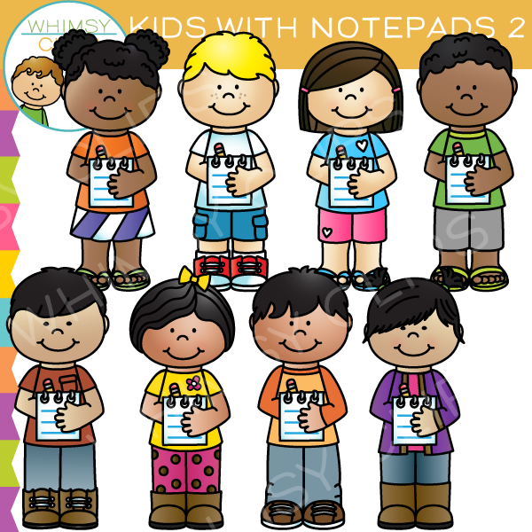 kids writing paper clip art images illustrations whimsy clips rh whimsyclips com