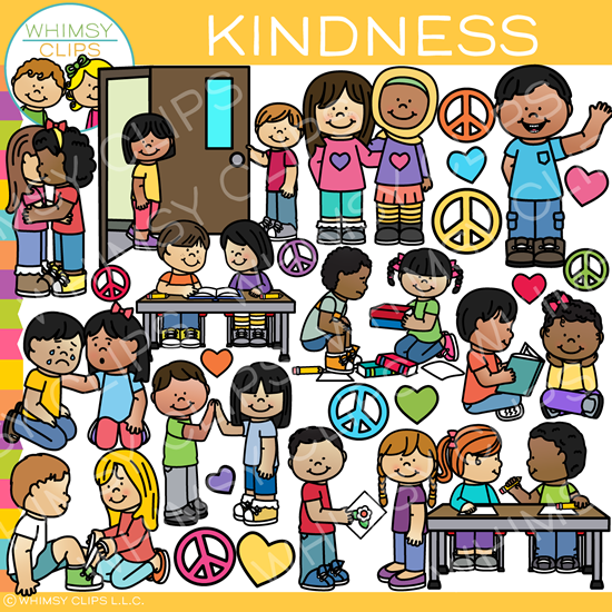 Kids Showing Kindness Clip Art