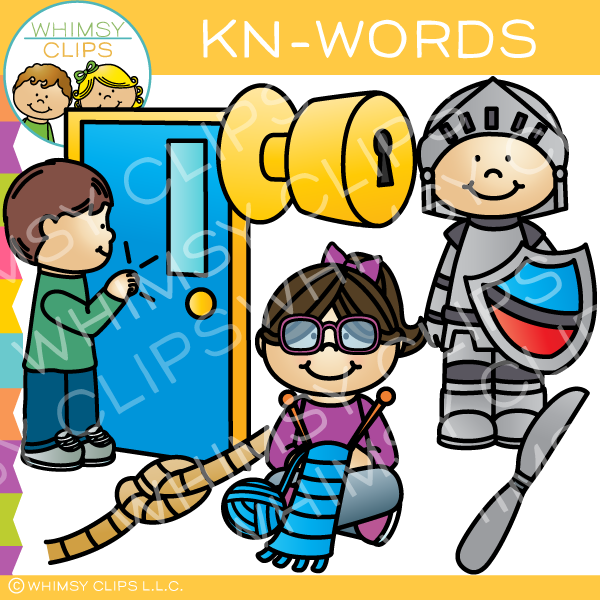 Kn- Words Clip Art - Volume One