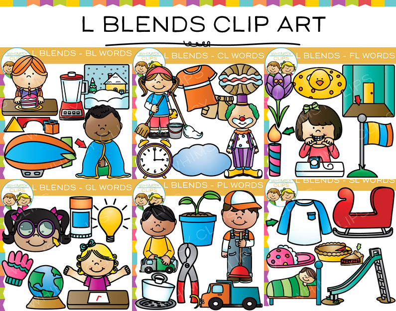 L Blends Clip Art