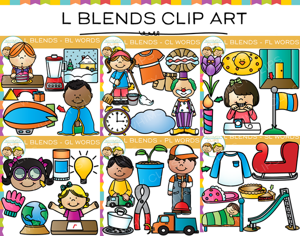 L Blends Clip Art Bundle - Volume One