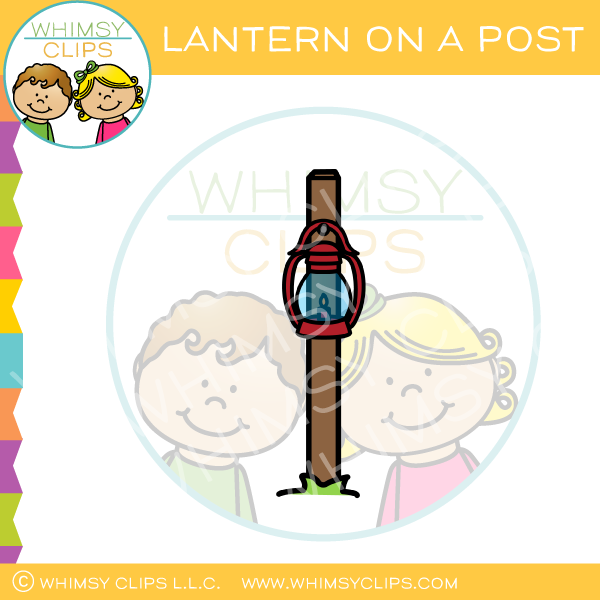 Lantern On A Post Clip Art