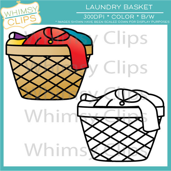 laundry basket clip art images illustrations whimsy clips rh whimsyclips com washing basket clipart free clipart laundry basket
