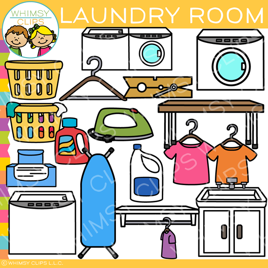Pieces of Laundry Room Clip Art , Images & Illustrations ...