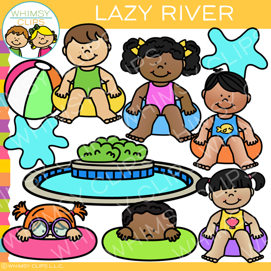Summer Fun in the Lazy River Clip Art