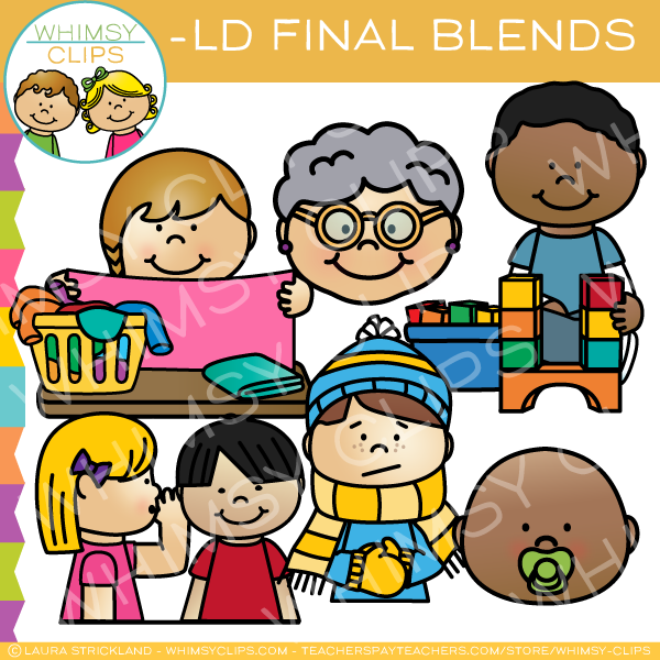 Ending Blends - LD Words Clip Art