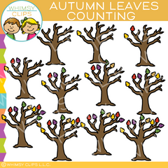 Autumn Leaves Counting Clip Art