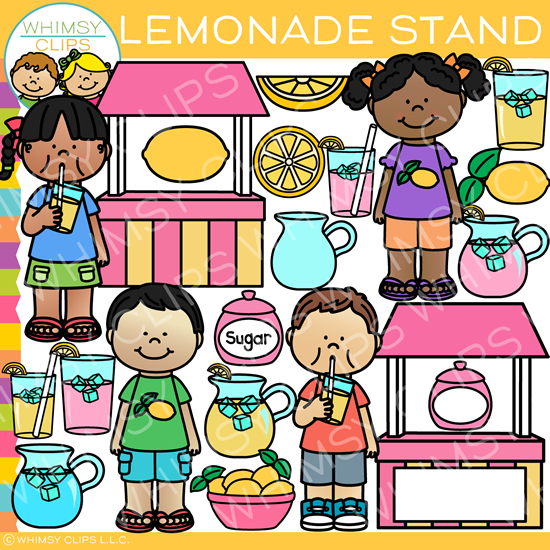 Fun Summer Lemonade Stand Clip Art