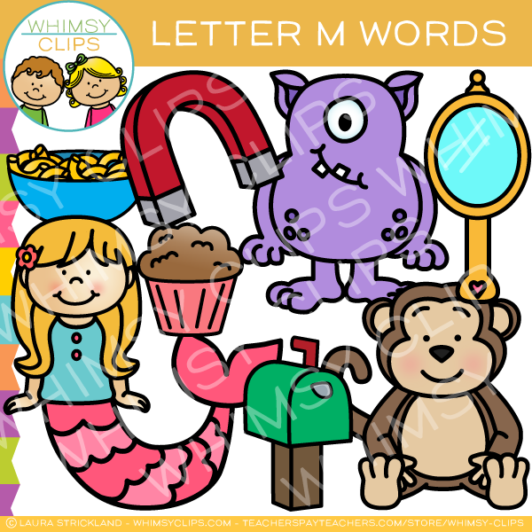 clip art letters mail clip images illustrations whimsy 20867 | letter m sound alphabet clip art WhimsyClips grande