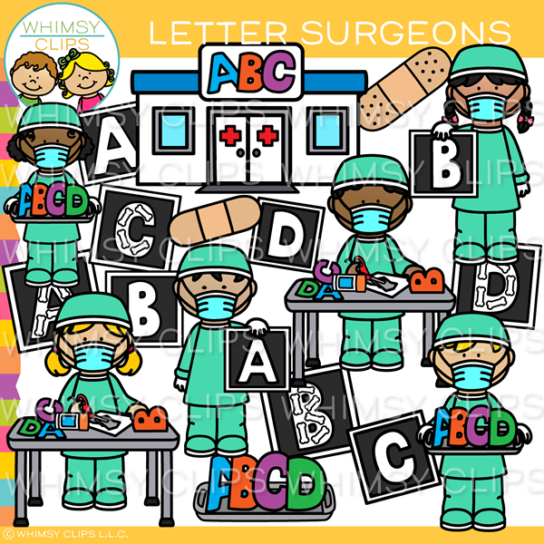 Letter and Word Surgeons Clip Art