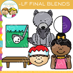 Ending Blends Clip Art - LF Words