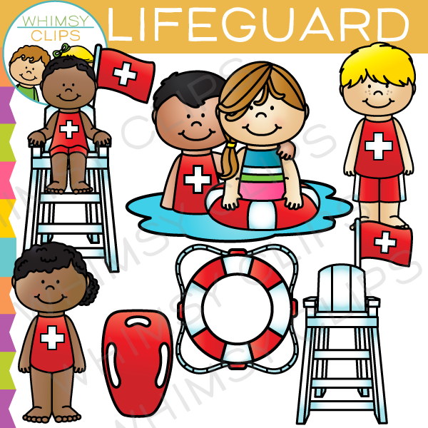 Kids Lifeguard Clip Art