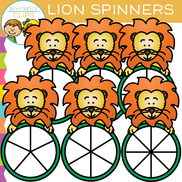 Lion Spinners Clip Art