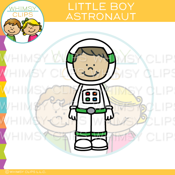 Little Boy Astronaut Clip Art