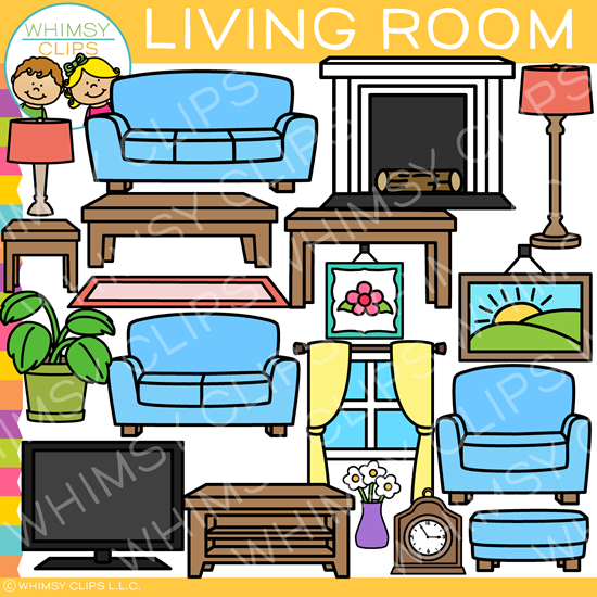 Living Room Clip Art: Living Room Furniture Clip Art , Images & Illustrations