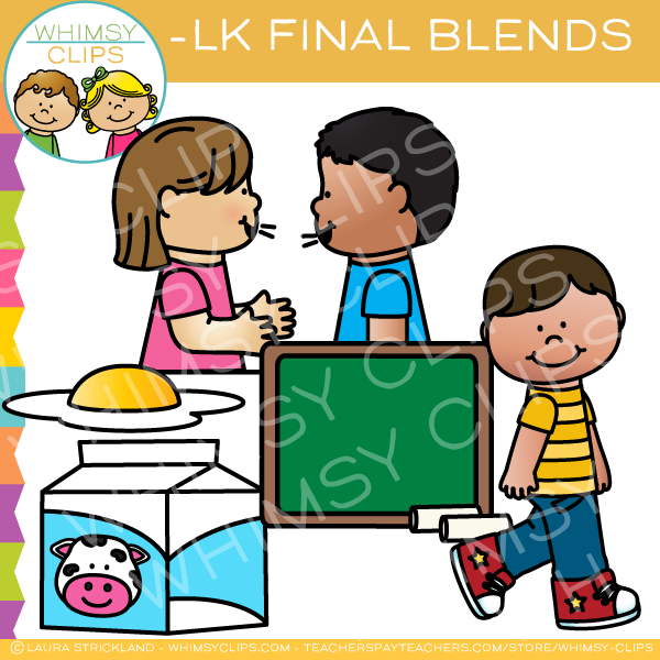 Ending Blends - LK Words Clip Art
