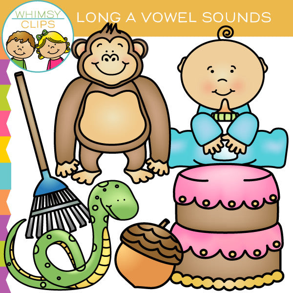 Long A Vowel Sounds Clip Art