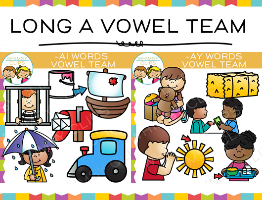 Long A Vowel Team Clip Art