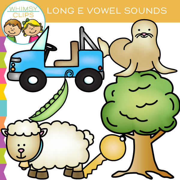 Long E Vowel Sounds Clip Art