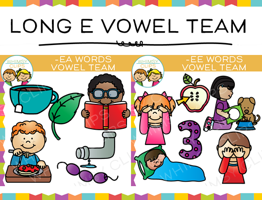 Vowel Team Long E Clip art Bundle