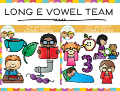 Long E Vowel Team Clip Art