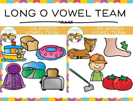Vowel Team Long O Clip art Bundle