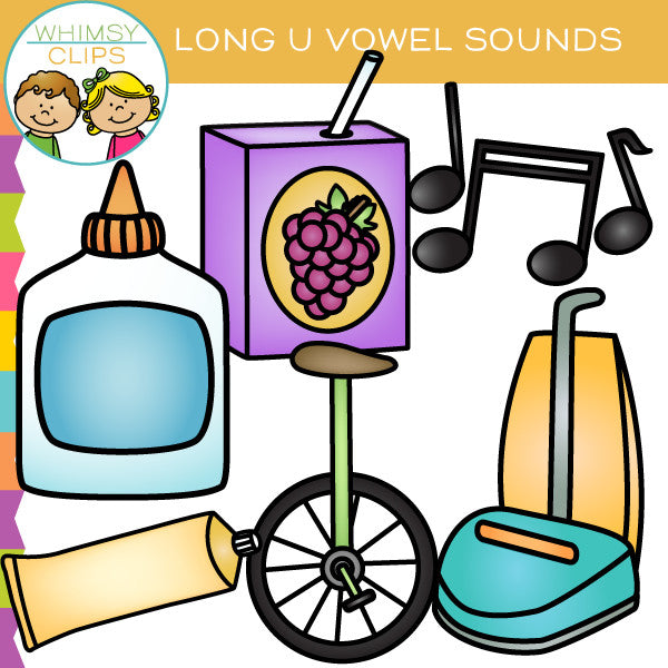 Long U Vowel Sounds Clip Art