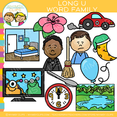 Long U Word Family Clip Art
