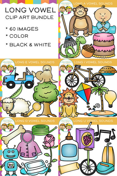 Vowel clip art , Images & Illustrations   Whimsy Clips