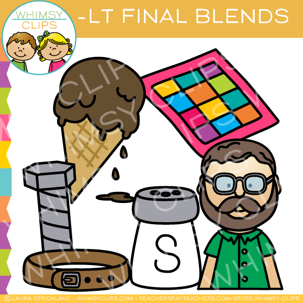 Ending Blends - LT Words Clip Art