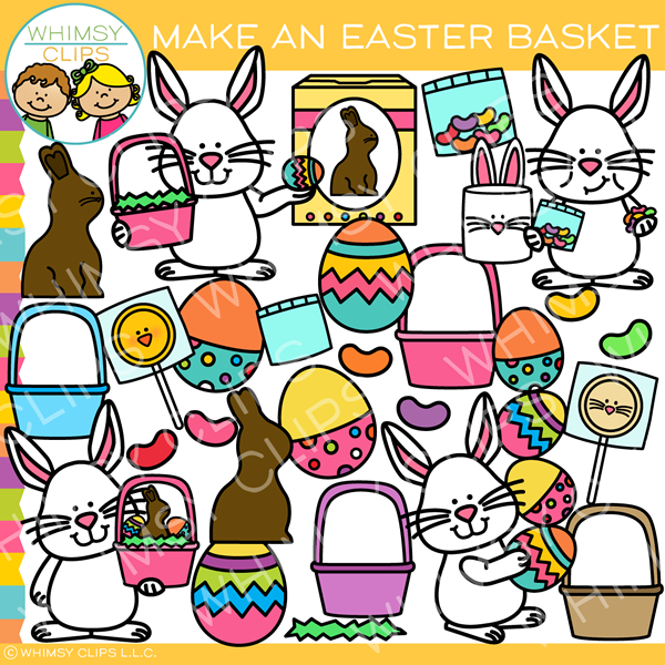 Make an Easter Basket Clip Art