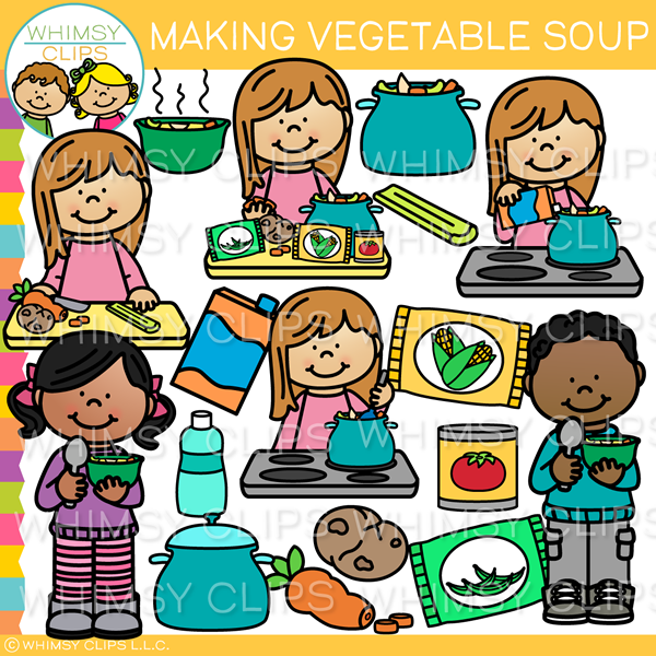 How to Make Vegetable Soup Clip Art