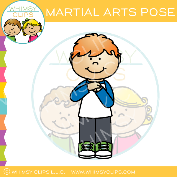 Martial Arts Pose Clip Art