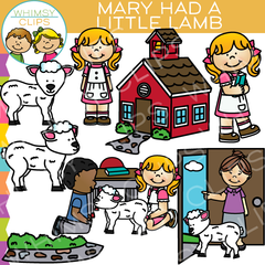 Mary Had a Little Lamb Clip Art