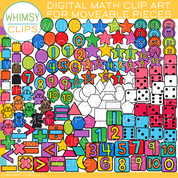 Moveable Math Clip Art for Paperless Resources