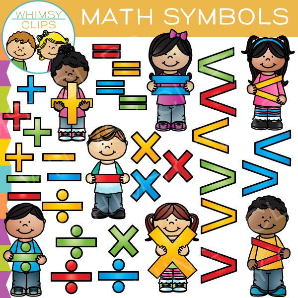 Math Symbols Clip Art Images Illustrations Whimsy Clips