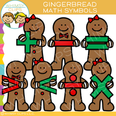 Gingerbread Math Symbols Clip Art
