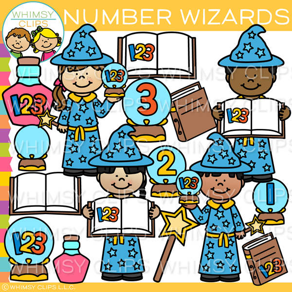 Number Wizards Clip Art