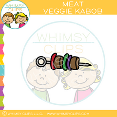 Meat And Veggie Kabob Clip Art