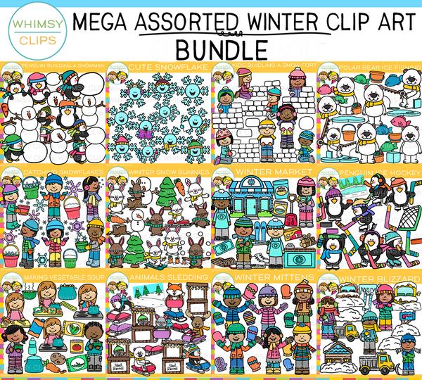 Assorted Winter Clip Art Bundle