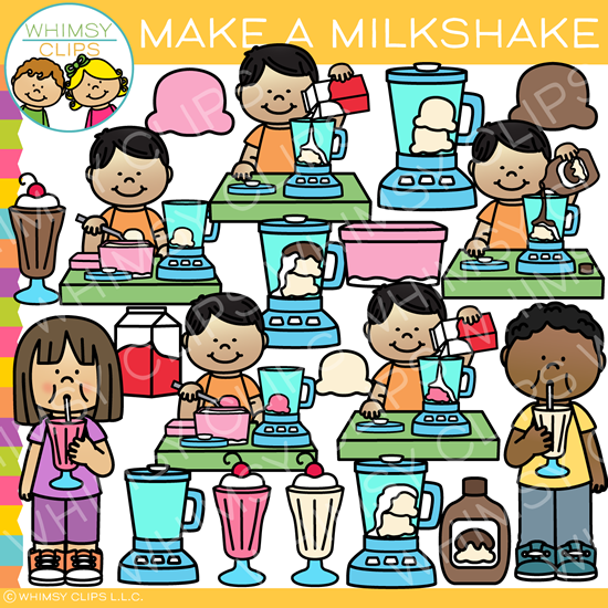 Make a Milkshake Clip Art