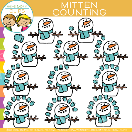 Mitten Counting Clip Art