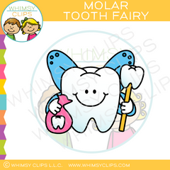 Molar Tooth Fairy Clip Art
