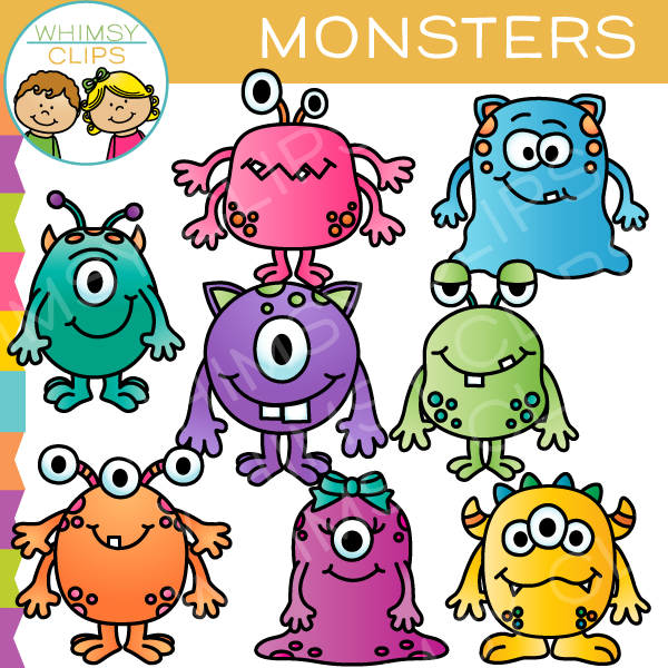 Cute Monster Clip Art