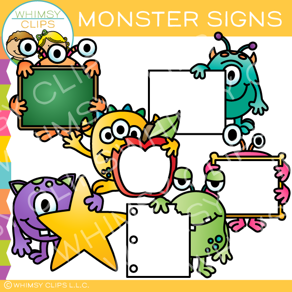 Monster Signs Clip Art