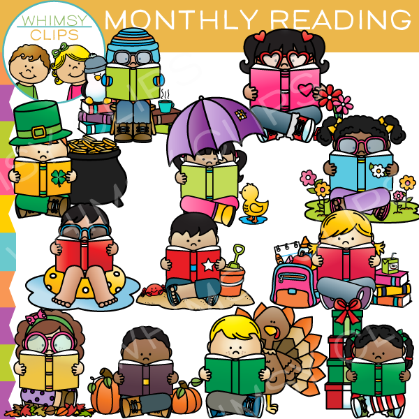Monthly Readers Clip Art