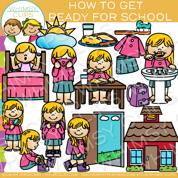 How to Get Ready for School Clip Art