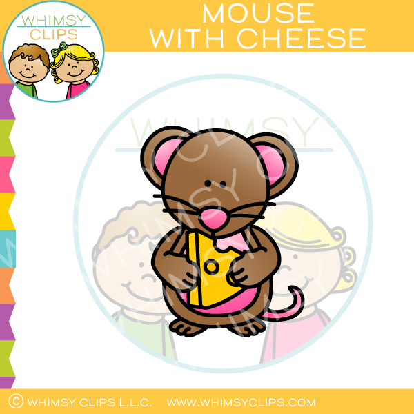 Mouse with Cheese Clip Art